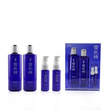 Medicated Sekkisei Lotion Duo Set: 2x Medicated Sekkisei 360ml + 2x Sekkisei Emulsion 20ml