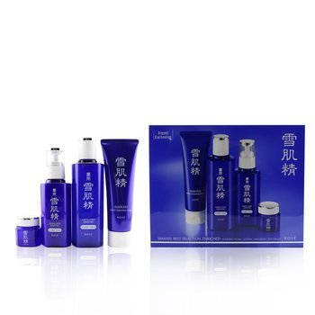 Kose Sekkisei Best Selection Enriched Set: Washing Foam 130g+Enriched Lotion 200ml+Enriched Emulsion 140ml+Eye Cream 20g