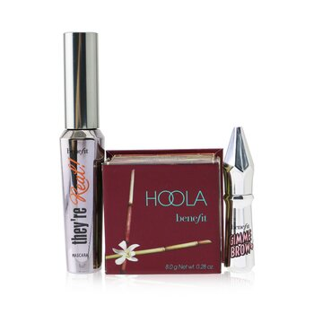 Bestsellers On Board Set: Hoola Matte Powder Bronzer 8g + They're Real!  Mascara 8.5g + Mini Gimme Brow Gel 1.5g