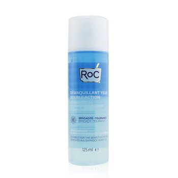 ROC Double Action Eye Make-Up Remover - Removes Waterproof Make-Up (Suitable For The Sensitive Eye Area)